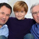 Smiling Grandfather, Father and Son