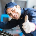 mechanic giving a thumbs up